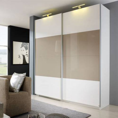 Wardrobe Sliding Fitting For 2 Doors Overlap 70 Kg With